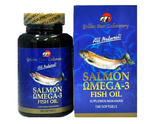 Gambar Minyak Ikan Terbaik Golden Bear Laboratory Salmon Omega 3 Fish Oil