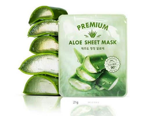 Gambar Masker Wajah Terbaik Missha Premium Aloe Sheet Mask