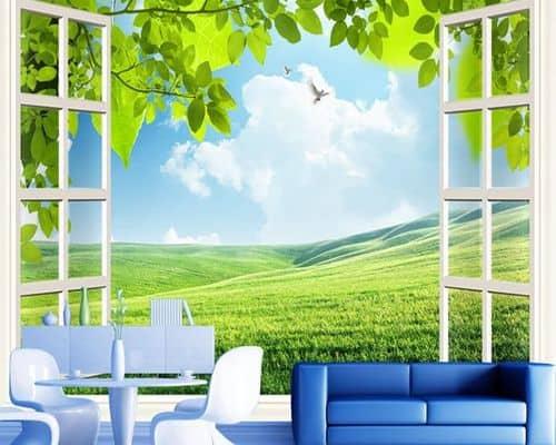 Gambar Wallpaper Dinding Terbaik Nature Motif Wallpaper Custom 3D