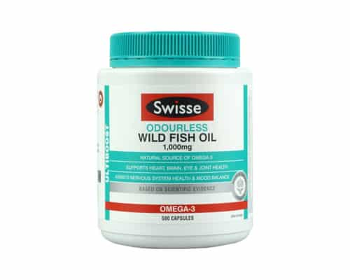 Gambar Minyak Ikan Terbaik SWISSE Ultiboost Odourless Wild Fish Oil 1000mg