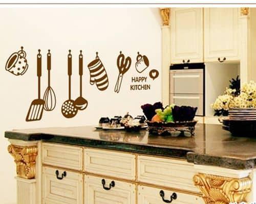 Gambar Wallpaper Dinding Terbaik Wallsticker AY6017 Happy Kitchen