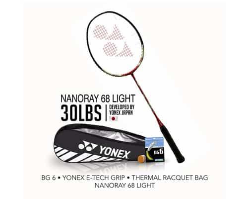 Gambar Raket Badminton Terbaik Yonex Bundling Nanoray 68