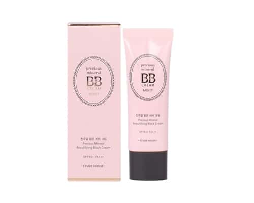Gambar BB Cream Etude House Precious Mineral Beautifying Block Cream Moist SPF50+ PA+++