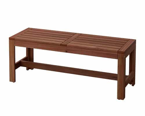 Kursi Taman Terbaik Ikea Applaro Bench – Brown Stained