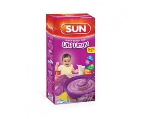 Rekomendasi Bubur Bayi Instan Terbaik Indofood SUN Baby Milk Sereal Ubi Ungu