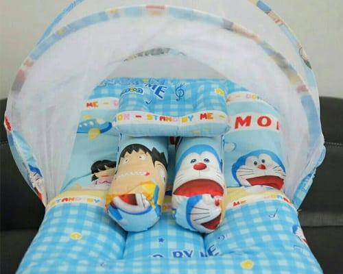 Kelambu Bayi Kasur Bayi Karakter Doraemon Dengan Kelambu