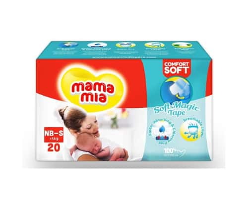 Mamamia Baby Diapers Soft Magic Tape NB-S
