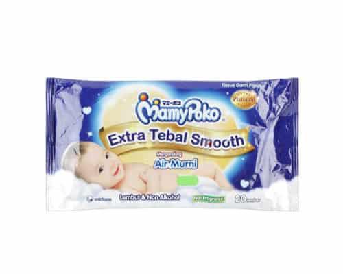 Tisu Basah untuk Bayi Terbaik MamyPoko Extra Tebal Smooth