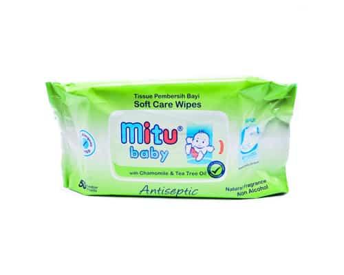 Tisu Basah untuk Bayi Mitu Baby Antiseptic Wipes