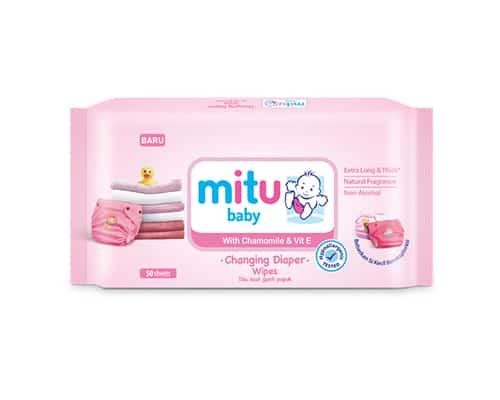 Tisu Basah Bayi Portable Mitu Baby Changing Diaper Wipes