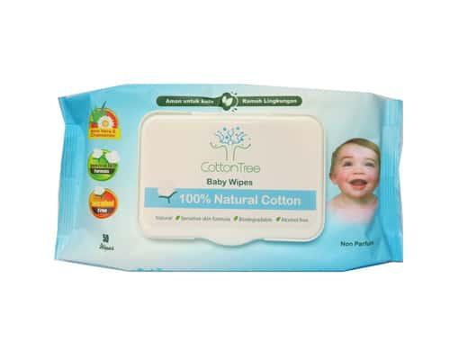 Tisu Basah Bayi Portable Neppi Cotton Tree Baby Wipes