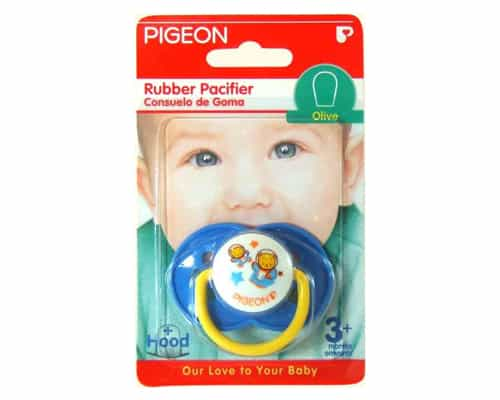Pigeon Rubber Pacifier Olive Flower