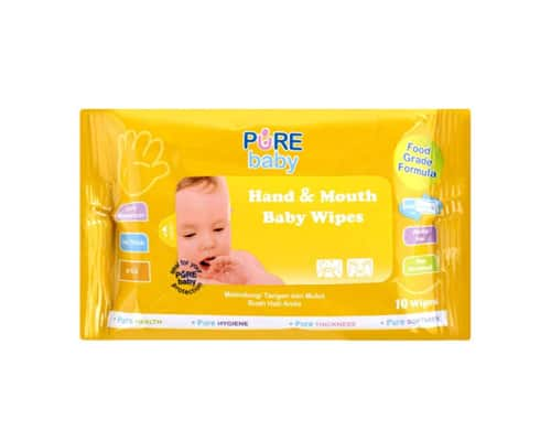 Tisu Bayi Portable Pure Baby Hand And Mouth Baby Wipes