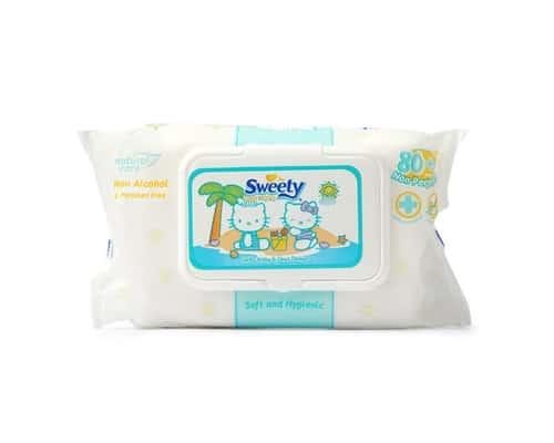 Tisu Basah untuk Bayi Portable Sweety Baby Wipes Non Perfumed