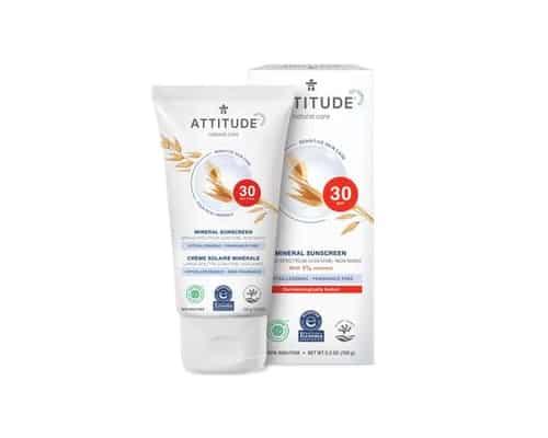 Sunblock untuk Bayi ATTITUDE Mineral Sunscreen SPF 30 Sensitive Skin