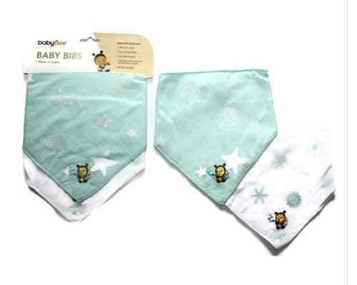 Rekomendasi Celemek Bayi Baby Bee Triangle Bibs