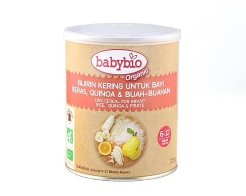 Rekomendasi Bubur Bayi Organik Babybio 3 Fruit Cereals With Quinoa