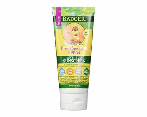 Sunblock Terbaik untuk Bayi Badger SPF 34 Sunscreen & Bug Repellent