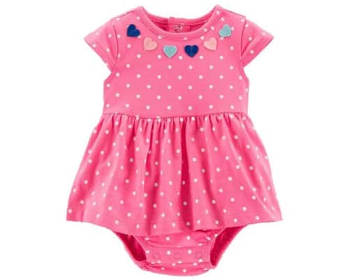Carters Pink Polkadots Baby Romper