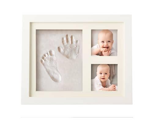 Hadiah untuk Bayi Clay Baby Footprints and Frame