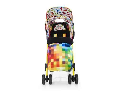Kereta Dorong untuk Bayi Kembar Cosatto Shuffle Tandem Stroller-Pixelate