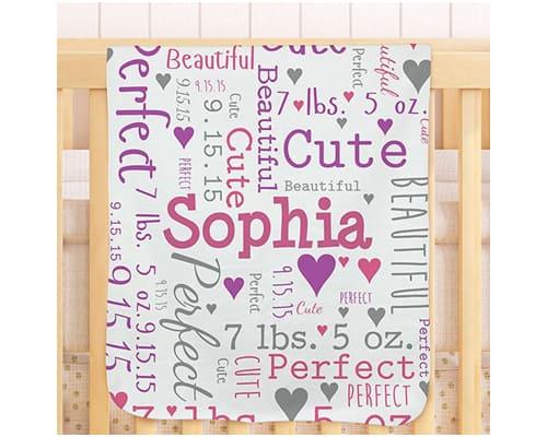 Hadiah untuk Bayi Custom Baby Blanket