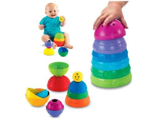 Mainan Edukasi Anak 0 sampai 1 Tahun Fisher Price Brilliant Basics Stack and Roll Cups