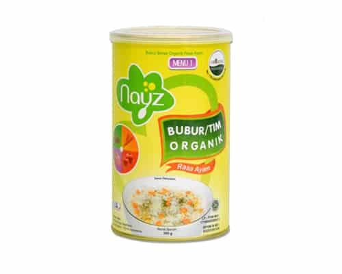 Rekomendasi Bubur Bayi Organik Terbaik Nayz Bubur Kaleng Menu 1 Ayam Fillet