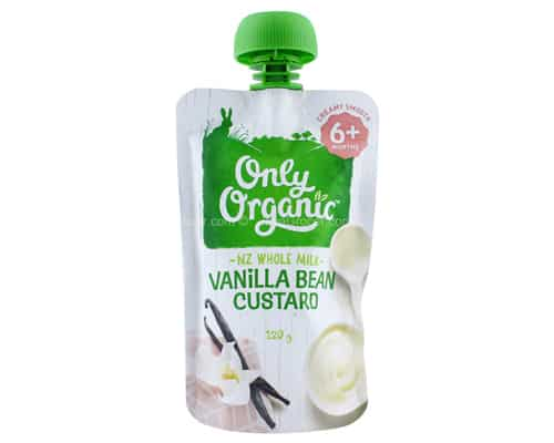 Rekomendasi Bubur Bayi Terbaik Only Organic Vanilla Bean Custard New Zealand Whole Milk
