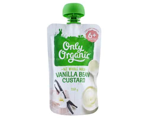 Rekomendasi Bubur Bayi Terbaik Only Organic Vanilla Bean Custard New Zealand Whole Milk