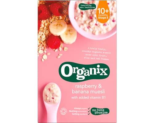 Bubur Bayi Organik Organix Raspberry & Banana Muesli