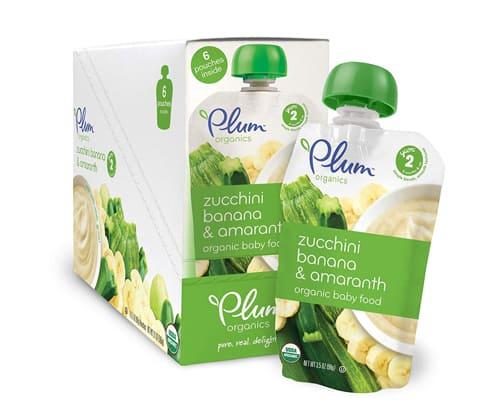 Bubur Bayi Organik Terbaik Plum Organics Second Blends Banana, Zucchini & Amaranth