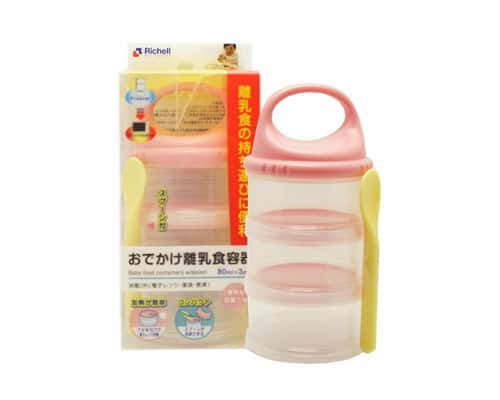 Tempat Makan Bagus untuk Bayi Richell Baby Food Container with Spoon