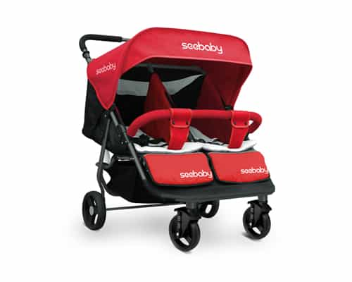Kereta Dorong untuk Bayi Kembar Bagus Seebaby T22 Comfy Fashionable Twins Baby Stroller