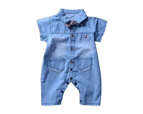 Short Baby Jeans Romper