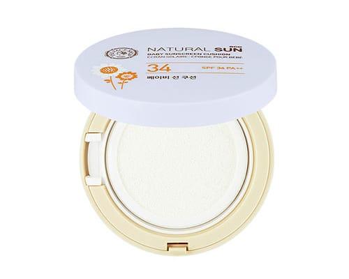 Sunblock Bagus untuk Bayi The Face Shop Natural Sun Eco Baby Sunscreen Cushion SPF34 PA++