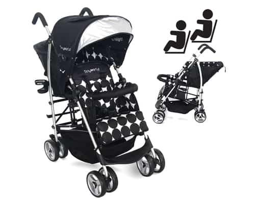 Kereta Dorong Terbaik untuk Bayi Kembar Tinyworld Twin Stroller
