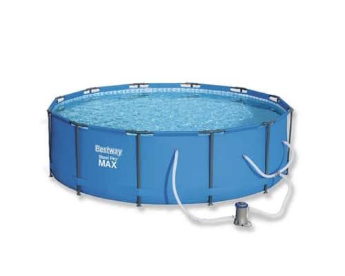 Kolam Renang Anak Portable Bestway Steel Pro MAX Round Pool