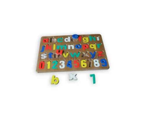 Mainan Edukasi Puzzle Alfabet dan Angka