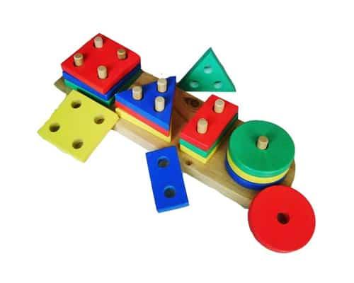 Mainan Edukasi untuk Anak Usia 2-3 Tahun Mainan Edukatif Geometri 4 Bentuk