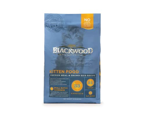 Gambar Makanan Kucing Blackwood Kitten Food Chicken Meal & Brown Rice Recipe