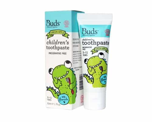 Gambar Pasta Gigi untuk Anak Buds Oralcare Organics Children's Toothpaste With Fluoride