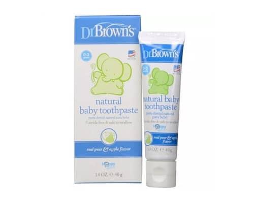 Gambar Pasta Gigi Anak Dr Browns Natural Baby Toothpaste