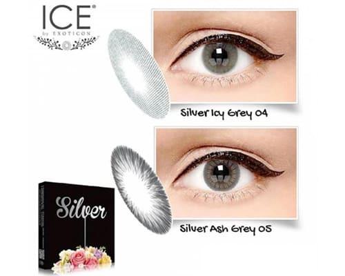 Gambar Softlens Exoticon Ice Silver Light Grey