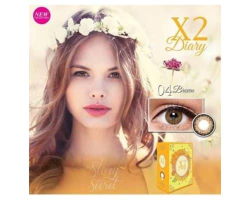Gambar Softlens Warna Exoticon X2 Diary Brown