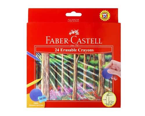 Gambar Crayon Mewarnai Faber Castell 24 Erasable Crayons