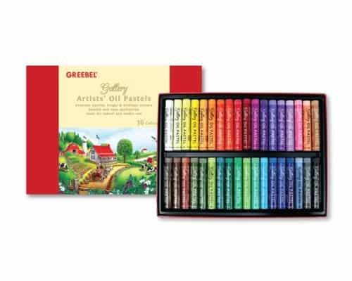 Gambar Crayon Mewarnai Greebel Artist Oil Pastels 36 Warna