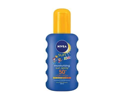 Rekomendasi Sunblock Anak Nivea Kids Moisturising Sun Spray SPF 50+