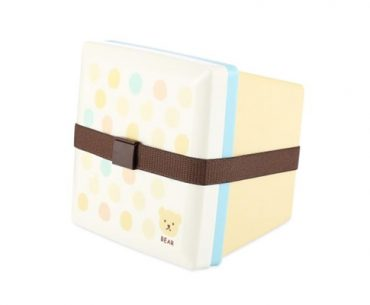 Gambar Square Double Layer Japanese Lunch Box