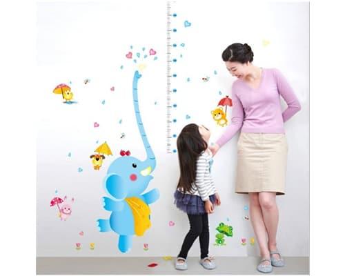 Gambar Stiker Dinding Pengukur Tinggi Badan – Gajah SK 9111